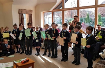 Year 3 pupils celebrate their RocON! project